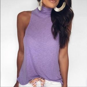 NWOT free people lilac top
